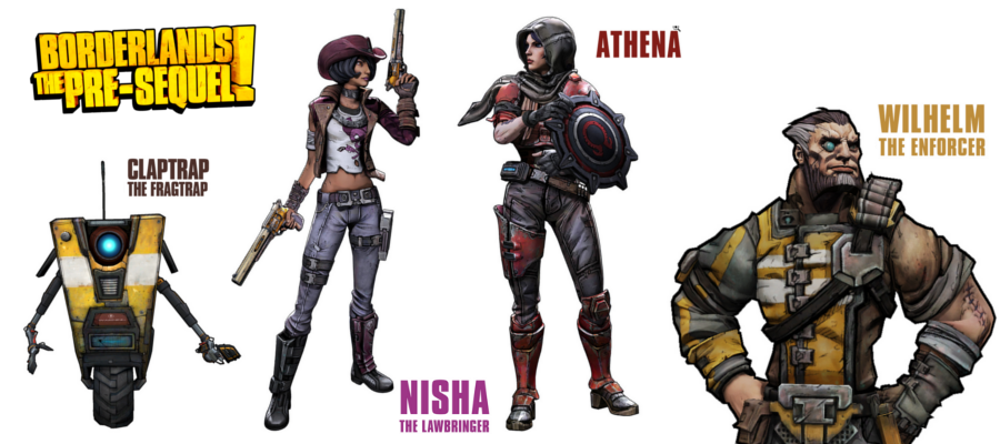 Borderlands Presequel Roster
