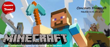 [Expiré][Concours] Gagne un jeu Minecraft